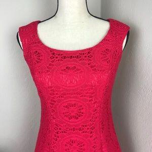 Adrianna Papell Crochet Sleeveless Sheath Dress 4